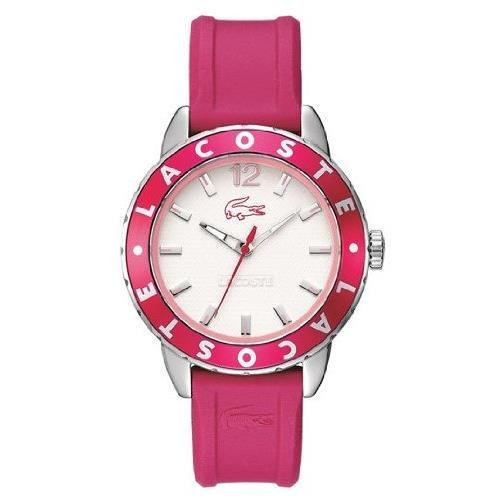 Lacoste 2000659 - Reloj, Correa de Goma Color Rosa