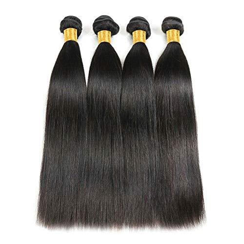 Ladiary High quality Remy Brazilian Human Hair Bundles Unprocessed Virgin Straight Human Hair Natürliches Glatt Menschliches Haar 400g Brasilianische Haare glatt 4 bundles 12 14 16 18 Zoll