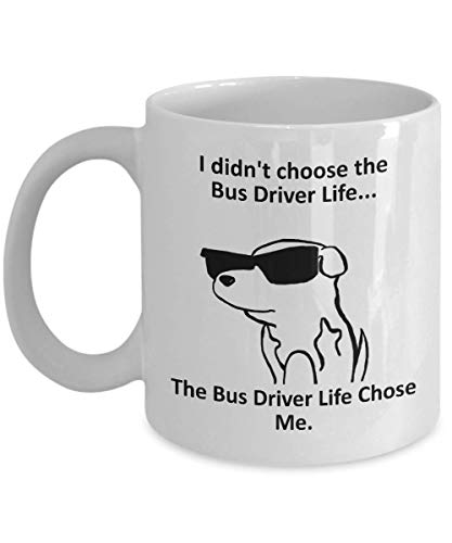 Taza de café del conductor del autobús