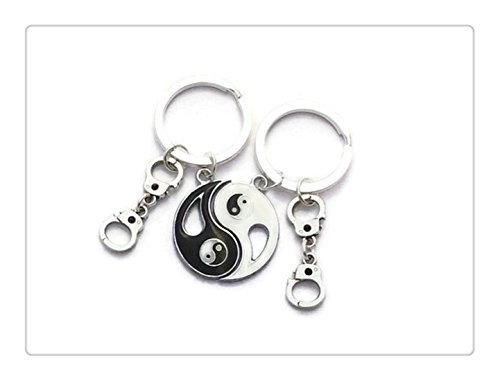 Ying Yang Keychains, Partners In Crime Set of 2, Graduation Sorority, Best Friend Goodbye Gift, Couples Key Ring Split, Sister Presents
