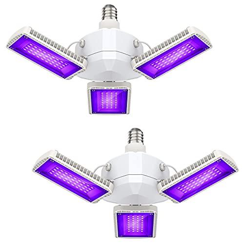 Onforu Lot de 2 Projecteur UV 45W, Lumière Noire Puissante a