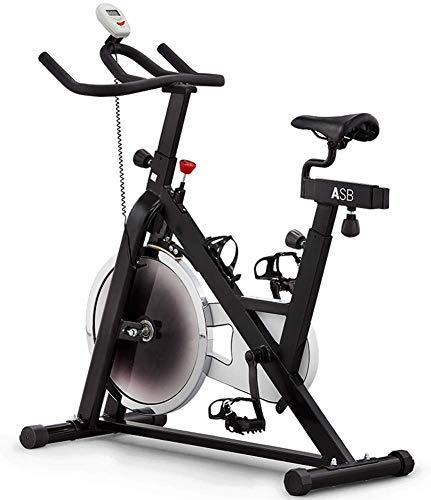 Ciclismo bicicleta estacionaria con la bicicleta estática 35 libras volante, sensor y monitor LCD, cómodo cojín del asiento, Teléfono / Ipad Soporte for oficina en casa, fácil de montar y mover yqaae