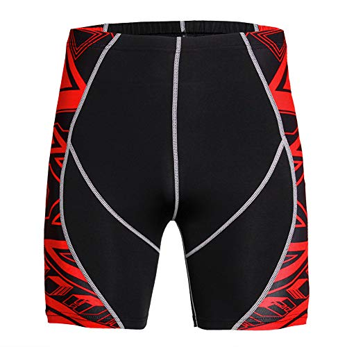 WANLN Pro Short Leggings, Herren Quick Dry Compression Shorts Baselayer Wicking Hosen für Workout Rennen, Trainingsraum, Basketball,Kj1,XXXL