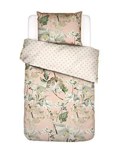 ESSENZA Bettwäsche Rosalee Blumen Baumwollsatin Blush, 135X200 + 1X 80X80 cm