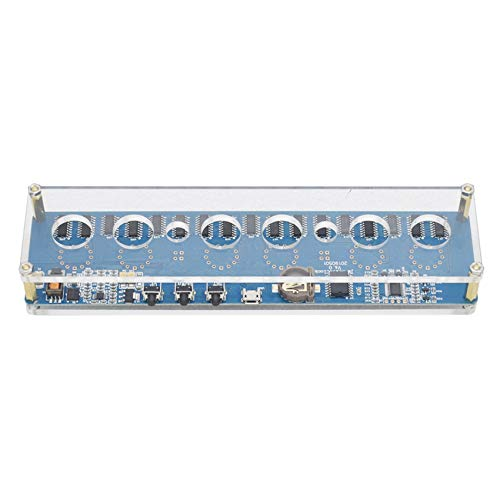 Gaetooely 12V 1A IN14 Nixie Tube Digital LED Reloj Placa de Circuito de Regalo con Estuche