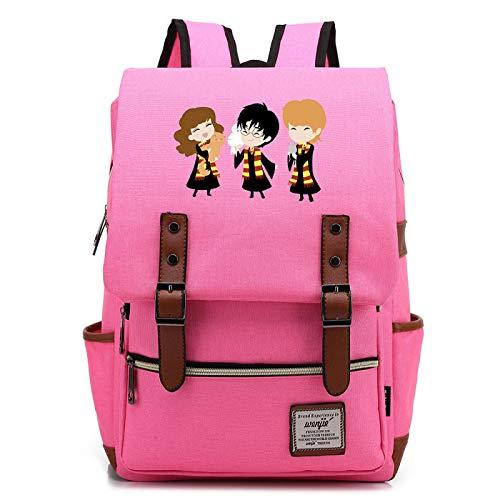 MMZ Linda Mochila para niñas Harry Potter Bag Hogwarts Unisex Casual School Bag L # 34