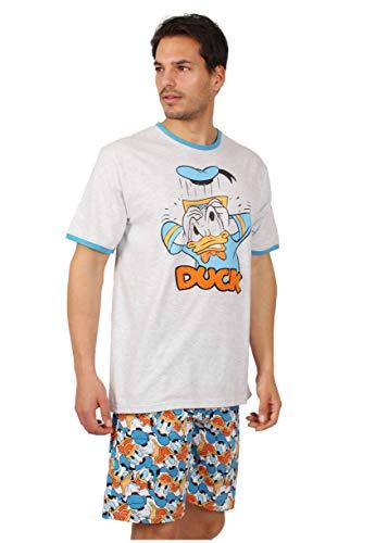 Disney Pijama Manga Corta Donald Duck para Hombre