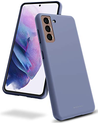 Goospery Liquid Silicone Case for Galaxy S21 (6.2 inches) Silky-Soft Touch Full Body Protection Shockproof Cover Case with Soft Microfiber Lining (Lavender Gray) S21-SLC-LGRY