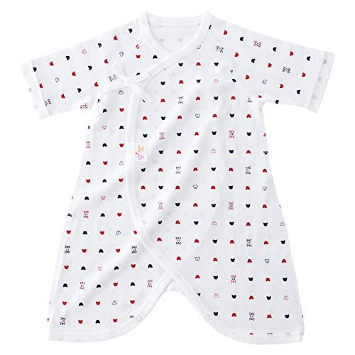 赤ちゃんの城 コンビ肌着 トリコロール オフホワイト ベビー 新生児 肌着 日本製 オールシーズン用