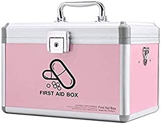 AINIYF Household Multi-Layer Medical Kit Portable Medical Box First Aid Kit Medicine Storage Box (Color : Pink, Size : C)