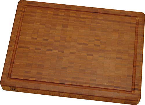 Zwilling 30772100 - Tabla de cortar de bambú (mediana), 36 X 25.5 X 3 cm