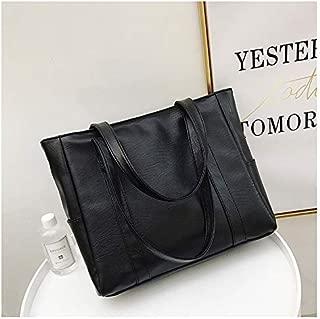 Fashion Single-Shoulder Bags Leisure Fashion PU Leather Shoulder Bag Handbag (Black) (Color : Black)