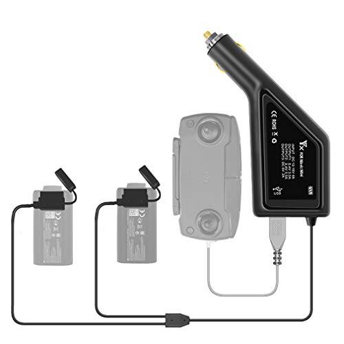 Linghuang Cargador de batería de repuesto para coche DJI Mavic Mini 2 en 1 y mando a distancia inteligente