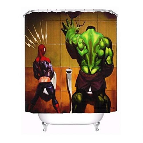 shentaotao Persönliche Rächer, Marvel-wasserdichter Duschvorhang Home Bade Badezimmer S Haken Polyester-gewebe Multi Größen 0421-sohu-09 DIY Tools