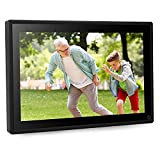 Dhwazz Digital Photo Frame, 10 Inch WiFi No Subscription Fee 16GB IPS HD Electronic Picture Frames with LCD Touch Screen, Share Moments via Email, APP, Support USB, SD Card, Video and Music