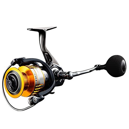 GvvcH Carrete de Pesca Spinning Relación de Engranajes 4.3:1 Carretes Spinning Suaves y Potentes para Carpa Lubina Trucha Agua Dulce Agua Salada Pescar,5000