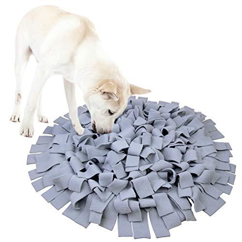 AK KYC Snuffle Matte für Hunde, Nasenarbeit langsames Füttern Training fördert natürliche Futterfähigkeiten für Haustiere, interaktives Puzzle, lustiges Spielzeug, perfekt für Jede Rasse, grau