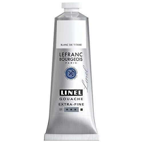 Lefranc Bourgeois Linel Gouache Extra-Fine Tube 60 ml Blanc De Titane Série 1 301238