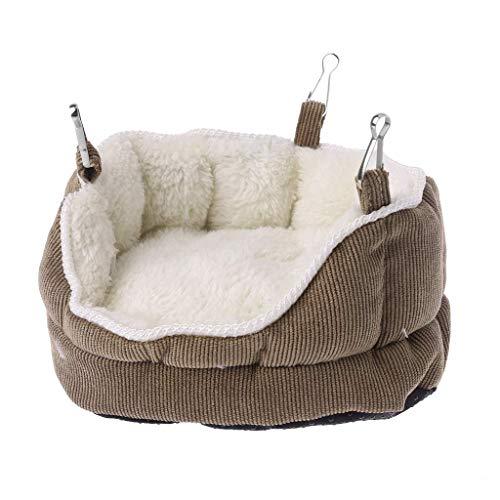 Vektenxi Premium-Qualität Pet Nest Velvet Hanging Schlafsofa Hängematte für Ferret Hamster Meerschweinchen Eichhörnchen