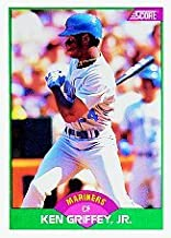 1989 Score Rookie/Traded Ken Griffey Jr. Rookie Baseball Card #100T - Shipped In Protective Display Case!