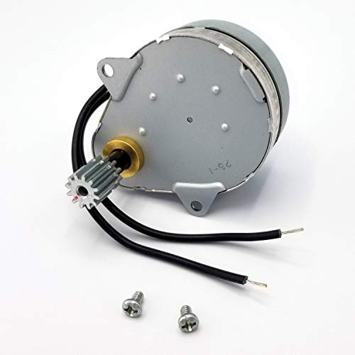 Fleck Style 5600 Timer Motor Replacement - 120VAC 60Hz 3w with Mounting Screws | Fleck Style 18743 with 11384 | Fleck 2510 Timer Motor | Fleck 3200 Timer Motor | Fleck 9000 Timer Motor