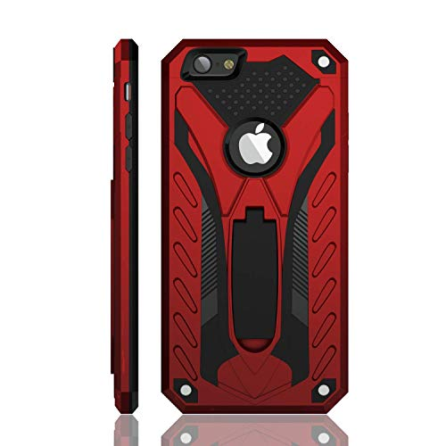 iPhone 6 Case | iPhone 6S Case | Military Grade | 12ft. Drop Tested Protective Case | Kickstand | Compatible with iPhone 6 / iPhone 6S - Red