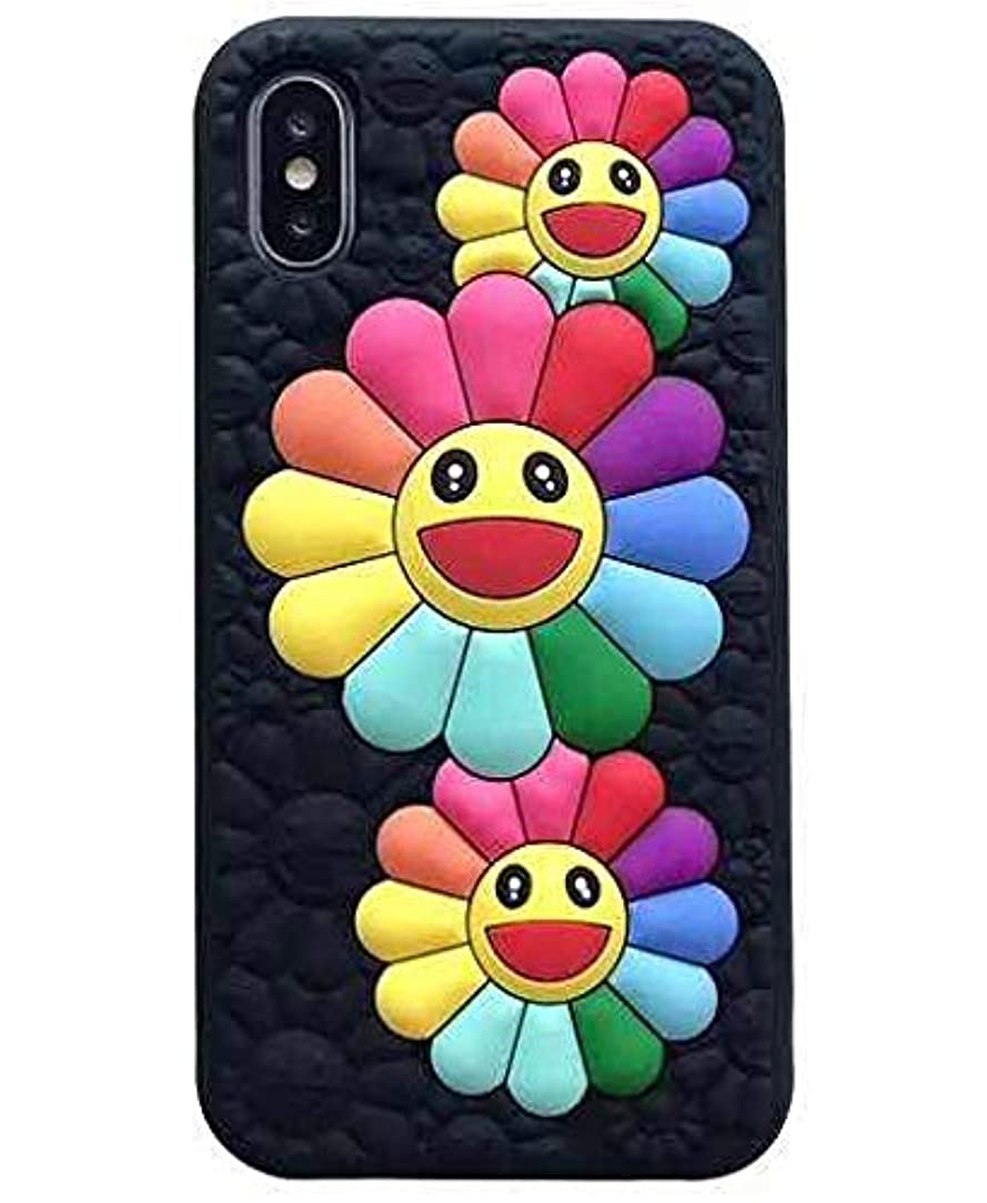 TopFunny Cases Compatible with iPhone X/XS Silicone 3D Cute Cartoon Flower Cases iPhone 10 Soft Silicone Bumper Protective Gel Cover for Apple iPhone X/XS and iPhone 10 5.8