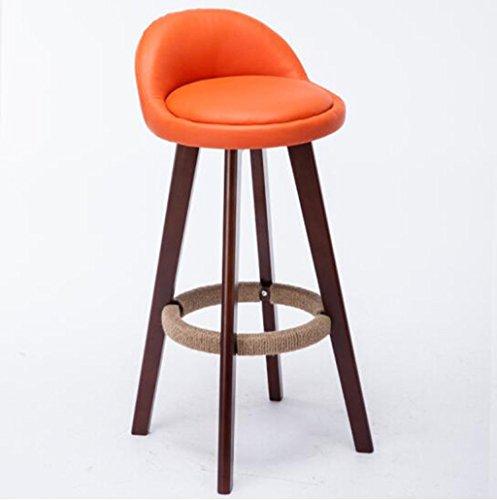 Tabouret en bois Chaise de bar en bois massif/créatif style européen bar chaise chaise de réception mode tabouret de bar tabouret simple tabouret en bois d'origine (Couleur : #3)