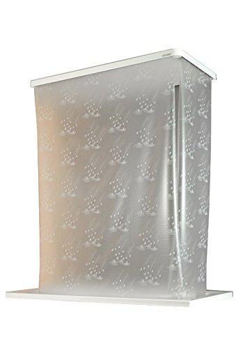 ECO-DuR,4024879010669,1 Paar Ersatzvorhänge ECK Duschrollo 134x62 cm - Tropfen weiß