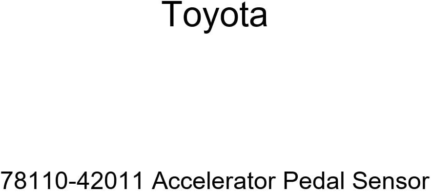 Max 89% OFF TOYOTA 78110-42011 Many popular brands Accelerator Sensor Pedal