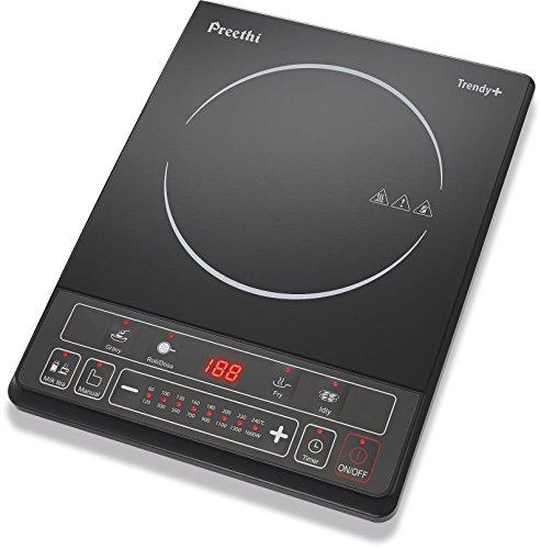 Preethi Trendy Plus 116 1600-Watt Induction Cooktop, Black