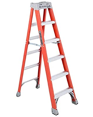 Louisville Ladder FS1506 Fiberglass Ladder, 6-Foot, 300-PoundCapacity, Type 1A by Louisville Ladder