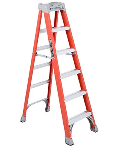 Louisville Ladder 6-Foot Fiberglass Ladder, 300-Pound Capacity,...