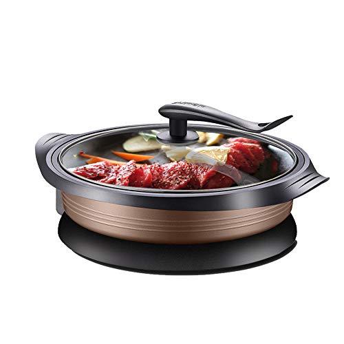 Multifunktions-Elektro-Hot-Pot-Grilltopf, 6L Großraum-Elektro-Backform-Kochgeschirrtopf, Elektro-Hot-Pot, Elektro-Grill, Elektro-Backform