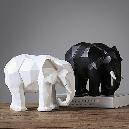 BGHYU Estatua de Resina de Elefante estatuilla Abstracta decoración del hogar Estatua geométrica Elefante Animal Escultura decoración del hogar