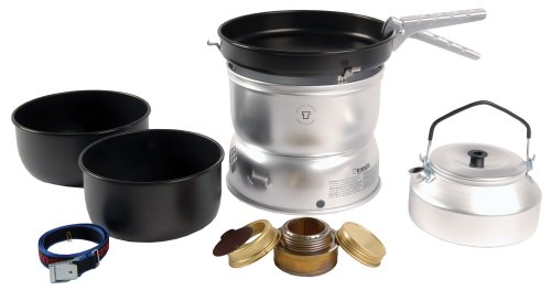 Trangia 25 Beschichtetes Kochset mit Wasserkessel und Spiritus-Brenner