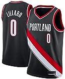 dll Maglia da Pallacanestro Maschile NBA Portland Trail Blazers 0# Damian Lillard Tessuto Traspirante Classico Retro Moda Senza Maniche T-Shirt T-Shirt Unisex (Color : A, Size : X-Large)
