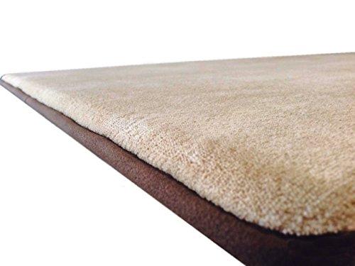 Thick Comfort Micro Plush Fleece Beige Luxurious Soft Memory Foam Waterproof Anti Slip Rug Pad Mat for Homes, Kitchen, Baths, bedrooms, Pets, Activities. (54''x37''x1.25'')