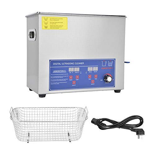 Ultrasonic Cleaner 6L, SUS304 Digital Ultrasonic Cleaner, 40KHz Industria Power Temperatura regolabile Kit di strumenti di pulizia(AU Plug 220V)