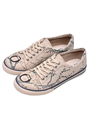 DOGO Damen Owl Sneaker, beige, 36 EU