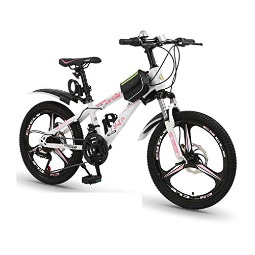 LEL 20-inch 21-Speed Bicycles Student Shock Absorption Bikes with Double Disc Brakes Mountain Bikes