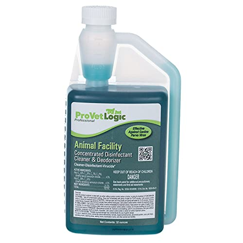 ProVetLogic Animal Facility Disinfectant Cleaner & Deodorizer (Concentrated) - 32oz AcuPro Bottle