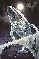 3000個の木製大人のパズル、減圧レ組み立てゲーム、最高のホリデーギフト- 月明かりの下で橋を渡るクジラ(87*110cm)