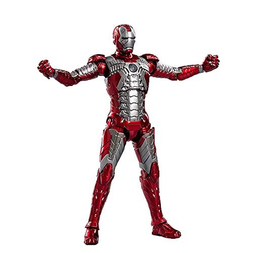 LXQGR Genuine Marvel Toy Avengers Mk5 Iron Man Genakumark 56 Modelo móvil Hecho a Mano