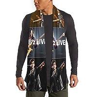 メンズカシミアスカーフは B'Z ロックバンド (2) カジュアルファッションく長い暖かいスカーフ 男性と女性の秋と冬用 30cm×180cm新品