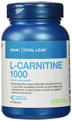 GNC Total Lean® L-Carnitine 1000mg, 60 Tablets, Protects Lean Muscle and Supports Exercise Recovery