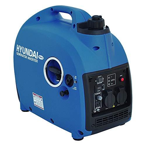 HYUNDAI Inverter-Generator HY2000Si D (tragbarer Benzin Generator, Inverter Stromerzeuger mit 2 kW Maximalleistung, Notstromaggregat, Stromaggregat)
