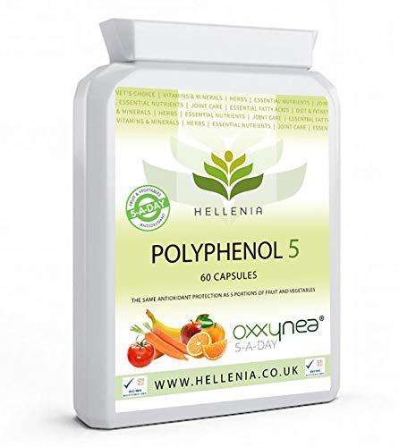 Hellenia Polyphenol 5 – Oxxynea | 5-a-Day Fruit & Veg Dietary antioxidants - 60 Capsules