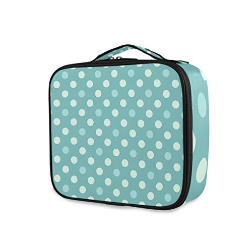 Outils Cosmétique Train Case Storage Polka Dots Art Portable Travel Makeup Bag Purse Toiletry Pouch
