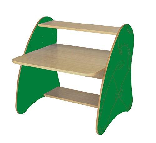 Mobeduc 600912HR21 Table Ordinateur Enfant/Primaire Bois hêtre/Vert foncé 80 x 80 x 75 cm